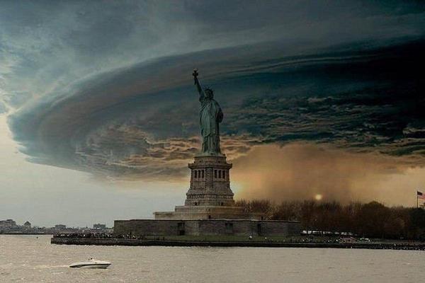 statua libertà uragano